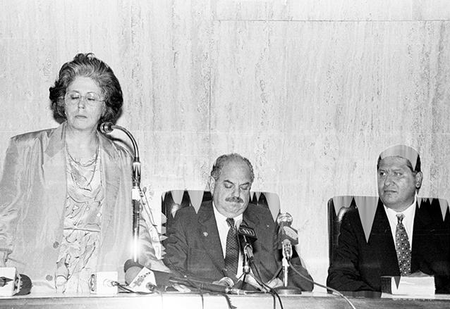 El presidente Serrano Elías nombró a María Luisa Beltranena de Padilla como Presidenta de la Corte Suprema de Justicia en una flagrante violación a la Constitución Política. (Foto: Hemeroteca PL)