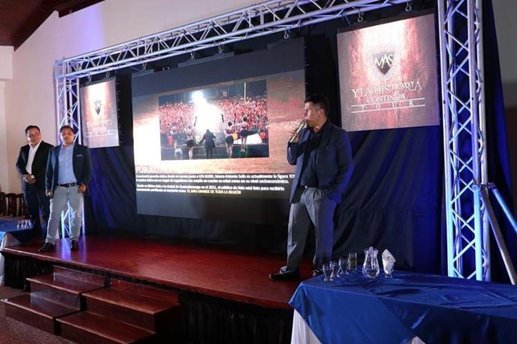 Los organizadores brindan detalles del concierto de Marco Antonio Solís en Xela. (Foto Prensa Libre: María Longo)