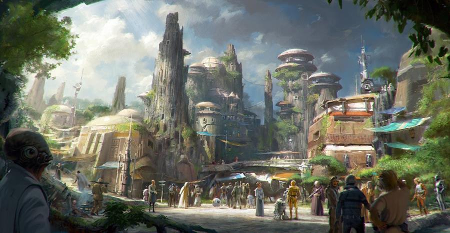 Los parques de Disney muestran las tierras de Star Wars. (Foto Prensa Libre: AP)