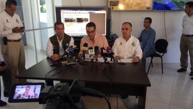 Las autoridades federales y estatales explicaron los factores que causaron la falta de agua en las cascadas de Agua Azul. (Foto: PC Chiapas)