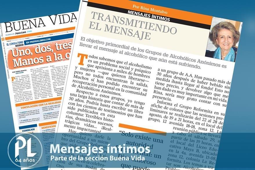 Columna actual de Mensajes íntimos. (Foto: Hemeroteca PL)