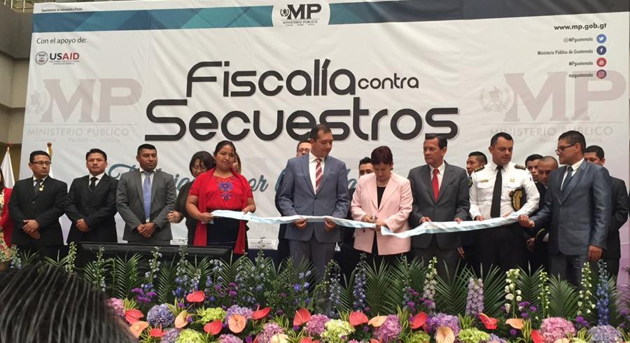 Ministerio Público inaugura Fiscalía Contra el Secuestro. (Foto Prensa Libre: MP)