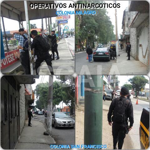 Operativos antinarcóticos se llevan a cabo en Mixco. (Foto Prensa Libre: Cortesía PNC)