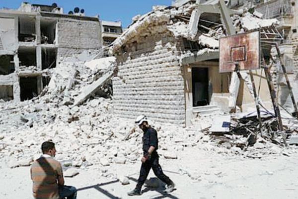 (Imagen de referencia) Una escuela siria después de un bombardeo del regimen de Bashan al Asad. (Foto Prensa Libre: Internet).
