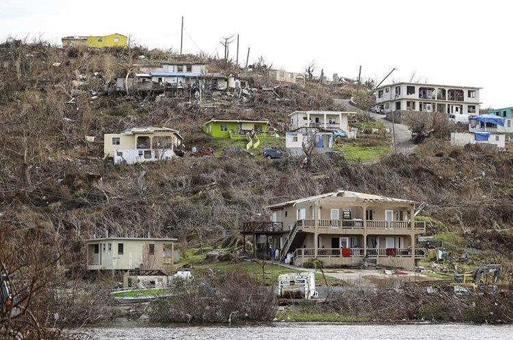 Daños causado por el huracán Irma, en Virgin Gorda, Islas Vírgenes Británicas. El huracán María seguiría siendo categoría 4 o 5 hasta que se mueva sobre Puerto Rico.(AP).