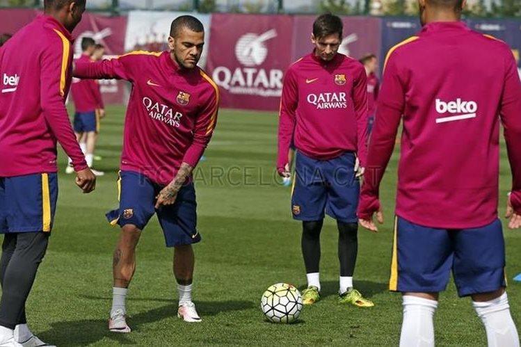 El FC Barcelona trabaja con miras al partido del fin de semana contra la Real Sociedad. (Foto Prensa Libre: FC Barcelona)
