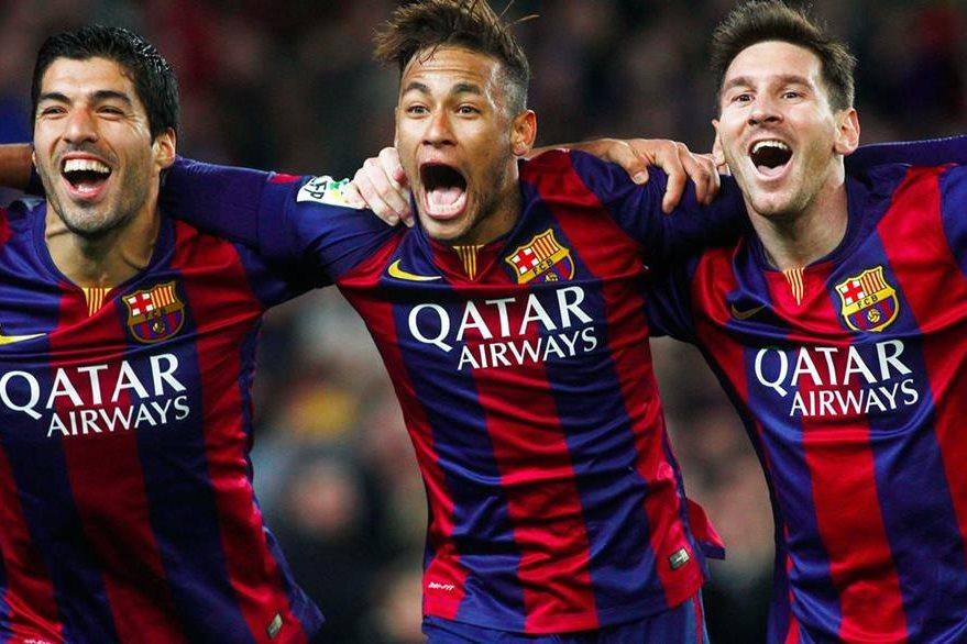 Suárez, Neymar y Messi suman 93 goles entre los tres. (Foto Prensa Libre: Hemeroteca)