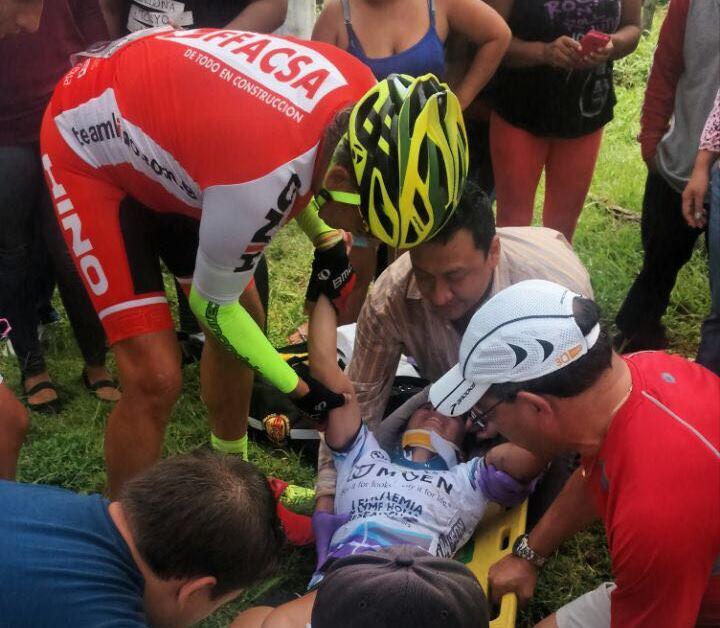 Mientras competía fue atropellada por la imprudencia de un conductor, que manejaba en estado de ebriedad. (Foto Prensa Libre: Cortesía María Fernanda Morales)