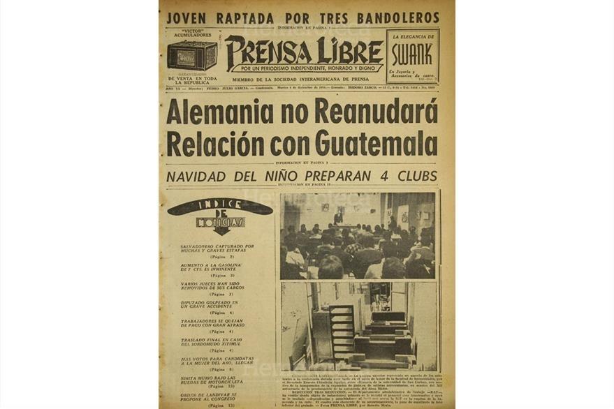 Luego del final de la Segunda Guerra Mundial, Alemania no reanudó relaciones diplomáticas con Guatemala. (Foto: Hemeroteca PL)