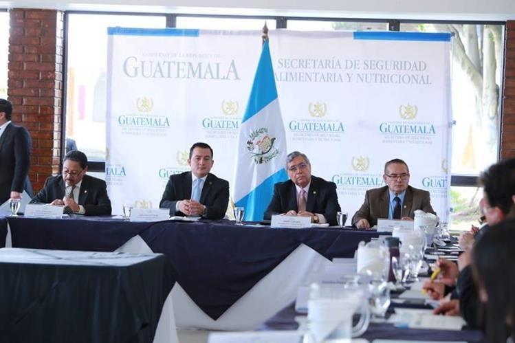 El vicepresidente Jafeth Cabrera preside el Consejo Nacional de Seguridad Alimentaria y Nutricional (Foto Prensa Libre: Vicepresidencia)