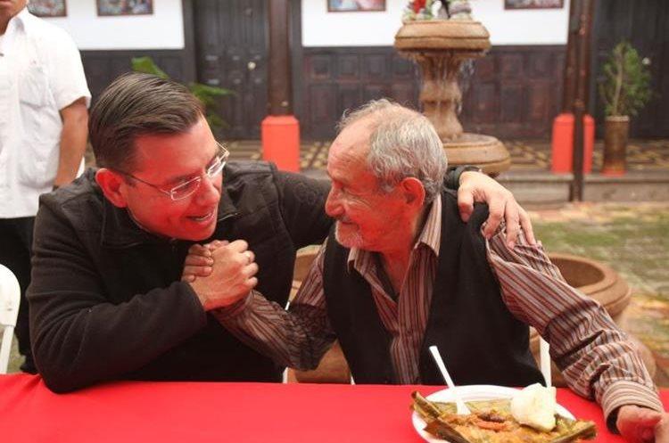 Manuel Baldizón dijo defender los derechos de las personas de la tercera edad. (Foto Prensa Libre: Hemeroteca)