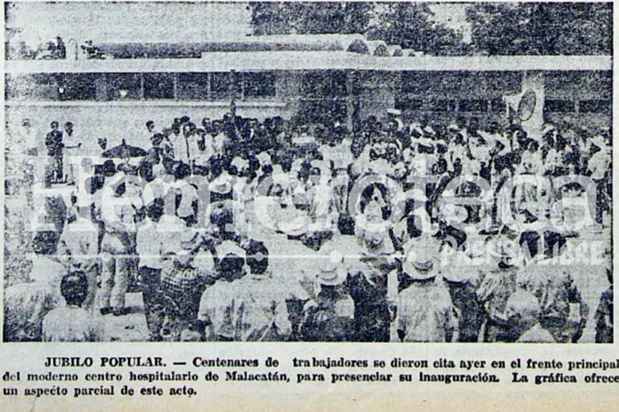 Inauguración del Hospital del IGSS en Malacatán, San Marcos, en 1962. (Foto: Hemeroteca PL)