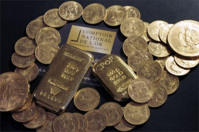 Una muestra del oro encontrado, que suma en total 100 kilos. AFP/GETTY