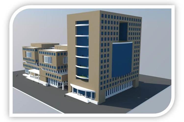 Modelo de la construcción del nuevo edificio del MP. (Foto Prensa Libre: MP)
