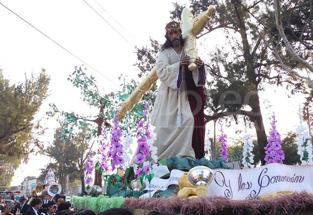 Procesión de Jesús Nazareno y Santísima Virgen de Dolores de la Colonia La Verbena, zona 7. (Foto: Néstor Galicia)