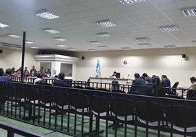 Realizan audiencia de primera declaración de cinco nuevos sindicados en el caso Hogar Seguro. (Foto Prensa Libre: Jerson Ramos)