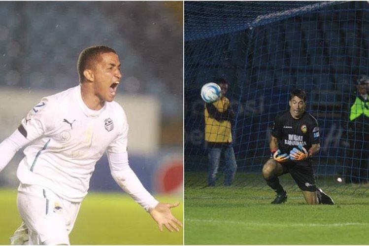 Luis Pedro Molina fue cómplice en el gol de Marvin Ceballos. (Foto Prensa Libre: Carlos Vicente)
