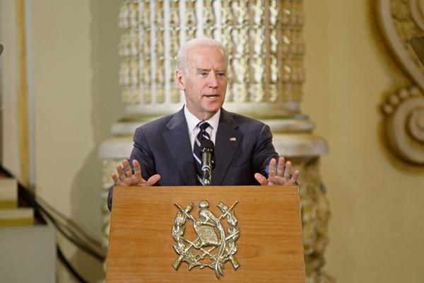Joe Biden,  Vicepresidente de Estados Unidos, impulsa la Alianza para la Prosperidad del Triángulo Norte de Centroamérica. (Foto Prensa Libre: Esbin García)
