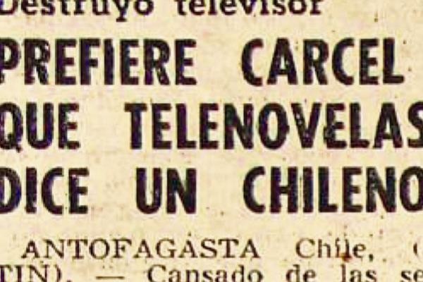 Chileno destruye televisor porque odia las telenovelas. Foto: Hemeroteca PL