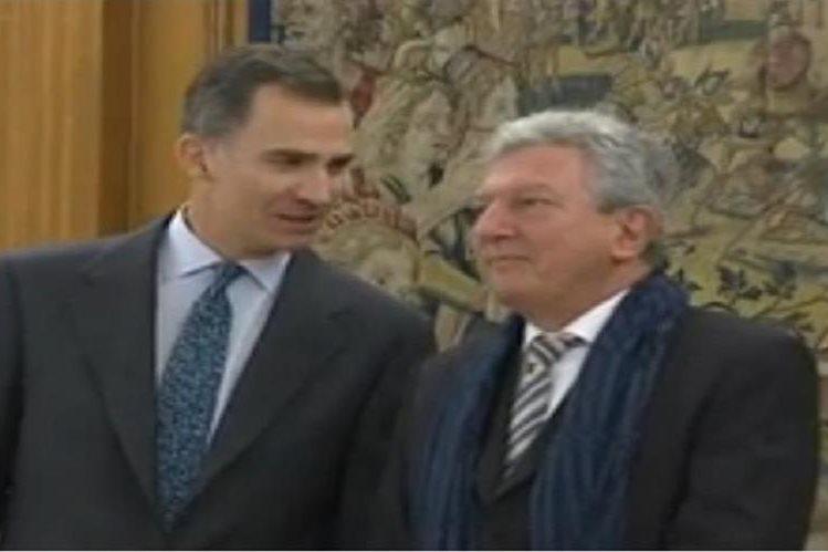 El portavoz de Nueva Canarias, Pedro Quevedo, de coalición con el PSOE, se reunió con el rey Felipe.