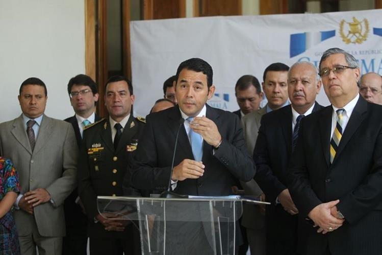 El MP presentará este lunes la solicitud de antejuicio en contra del mandatario Jimmy Morales. (Foto Prensa Libre: Hemeroteca PL)