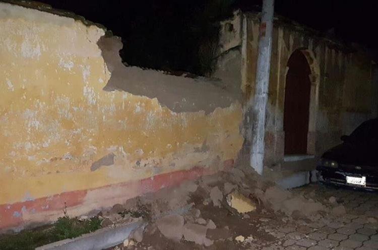 Derrumbe en vivienda de Quetzaltenango.