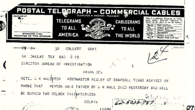 La investigación del asesinato de los osage fue el primer caso del entonces llamado Buró de Investigaciones del departamento de Justicia. FBI