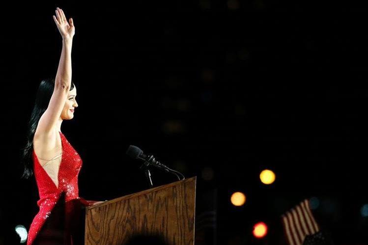 Katy Perry es una de las artistas que mostró apoyo a Hillary Clinton. (Foto Prensa Libre: AFP)