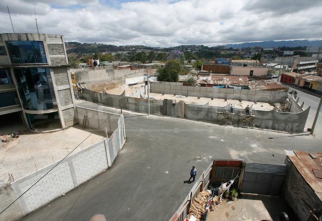 El área del hundimiento recién rehabilitada dos años después. 23/2/2009.  (Foto: Hemeroteca PL)