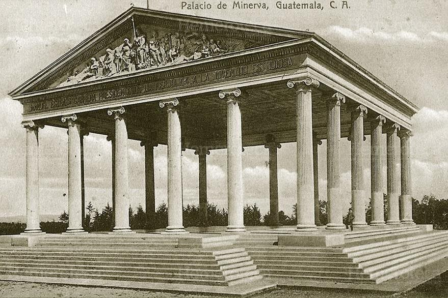 El Templo de Minerva se ubicaba al final de la Avenida Simeón Cañas, junto al Mapa en Relieve. (Foto: Hemeroteca PL)