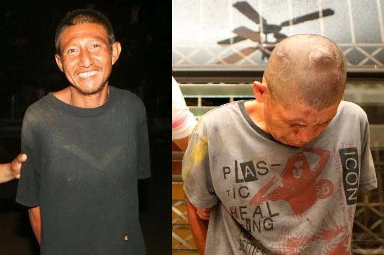 Los dos capturados en Retalhuleu son sindicados de robo en viviendas. (Foto Prensa Libre: Rolando Miranda)