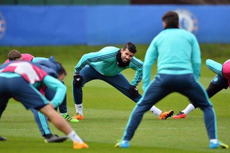 El delantero Diego Costa está listo para jugar con el Chelsea mañana frente al PSG de Francia. (Foto Prensa Libre:AFP)
