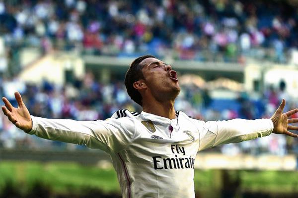 Cristiano Ronaldo, además, superó a Messi en la tabla de goleadores de la Liga. (Foto Prensa Libre: AFP)