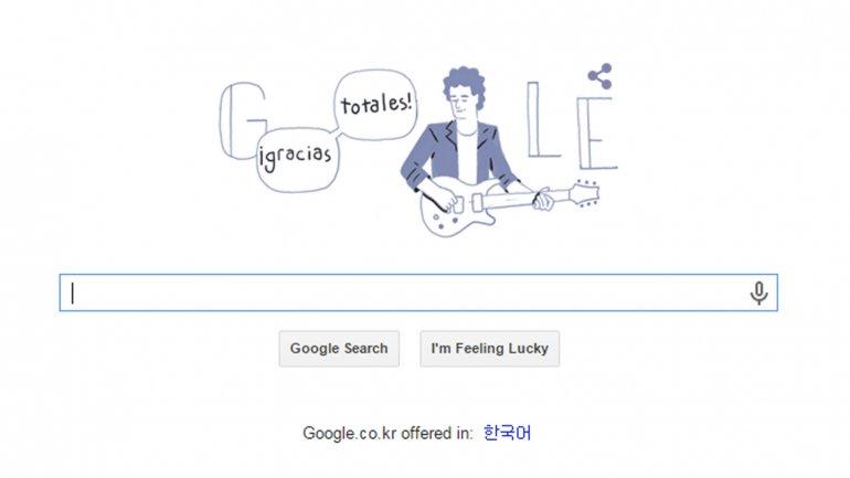 El doodle de Gustavo Cerati destaca en Latinoamérica. (Foto Prensa Libre: Tomada de google.com)