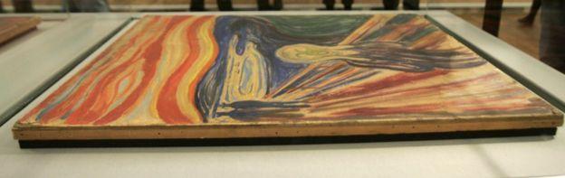 El Grito, de Edvard Munch (1893) fue encontrado dos años después de robado de un museo en Oslo, en 2004. AFP