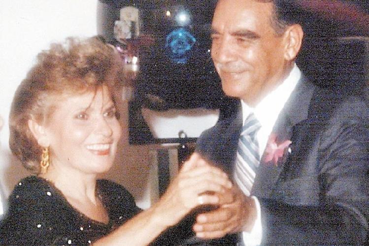 Romeo Lucas García y Elsa Cirigliano