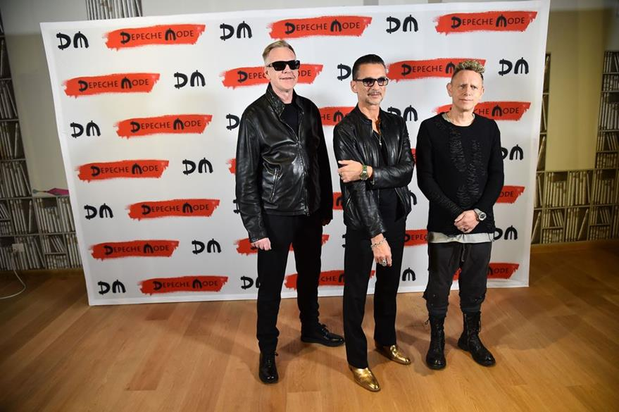 Andrew Fletcher, Dave Gahan y Martin Gore promocionan canciones del álbum Spirit. (Foto Prensa Libre: AFP)