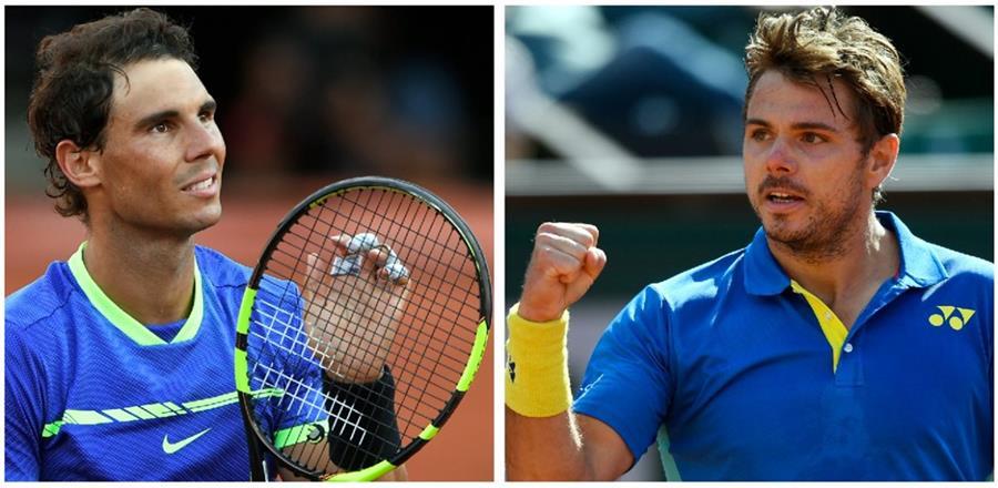 El español Rafael Nadal jugará frente a Stan Wawrinka la final el domingo. (Foto Prensa Libre: AFP)