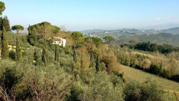 Maquiavelo escogió pasar su exilio en un pequeño poblado sobre las colinas de San Casciano. SILVIA MARCHETTI