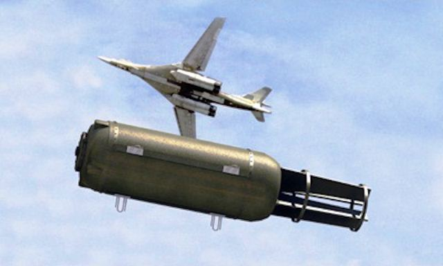 """El """"Padre de todas las bombas"""" lo tiene Rusia en su arsenal militar. (Foto Prensa Libre: Cortesía)"""