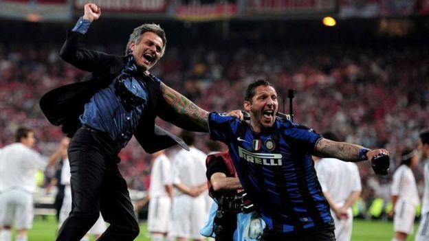 Mourinho y Materazzi lograron el triplete con el Inter de Milán en 2010. (Getty)