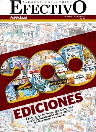 El Semanario Económico Efectivo cumple 200 ediciones.