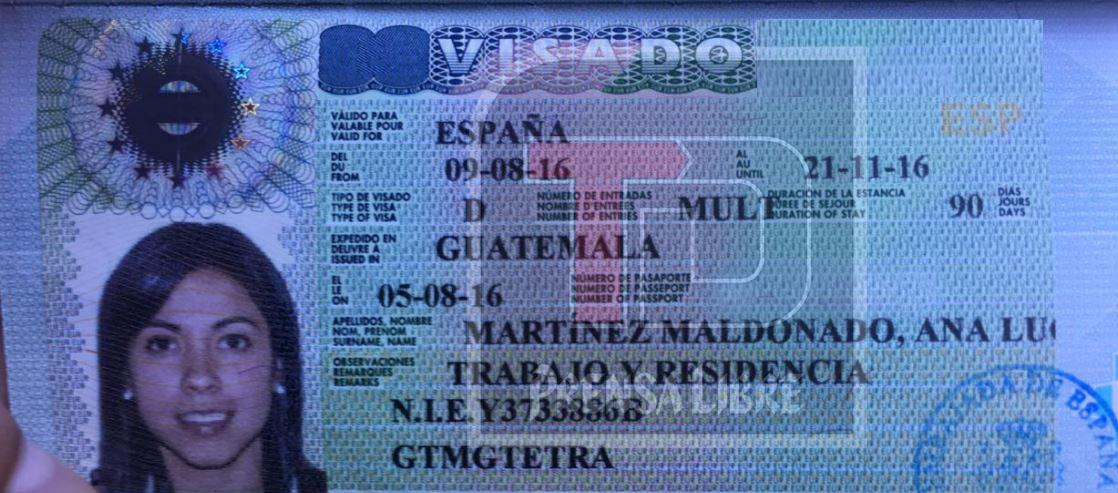 Ana Lucía ya cuenta con su permiso para trabajar como profesional en España. (Foto Prensa Libre: Cortesía Camilo Martínez)