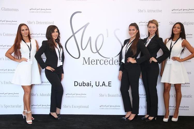 Evento She´s Mercedes que se realizó en Dubai. (Foto Prensa Libre: Cortesía)