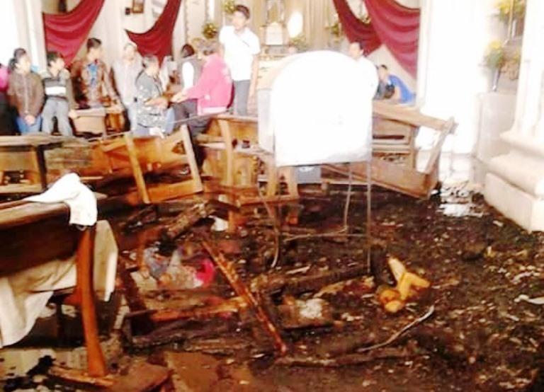 Detalles de los daños causados por el incendio. (Foto Prensa Libre: Cortesía)
