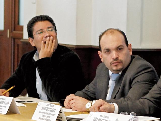 Carlos Barreda (IZQ), en la audiencia en el Congreso.