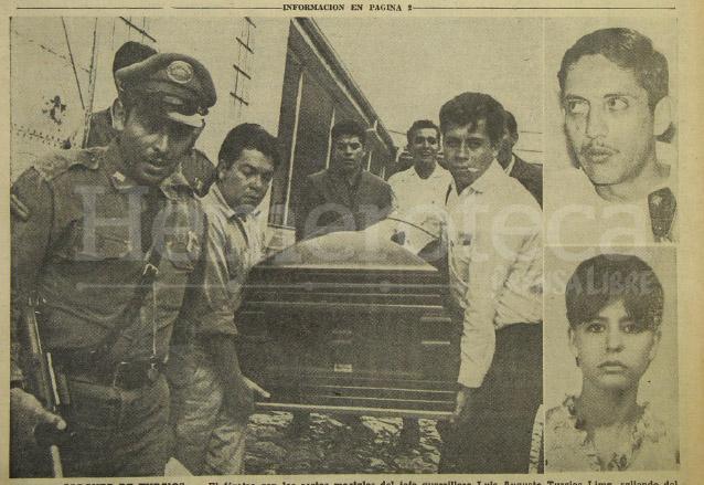 Luis Turcios Lima (inserto) murió en un accidente de tránsito el 2 de octubre de 1966, junto con su acompañante, Silvia Flores. (Foto: Hemeroteca PL)