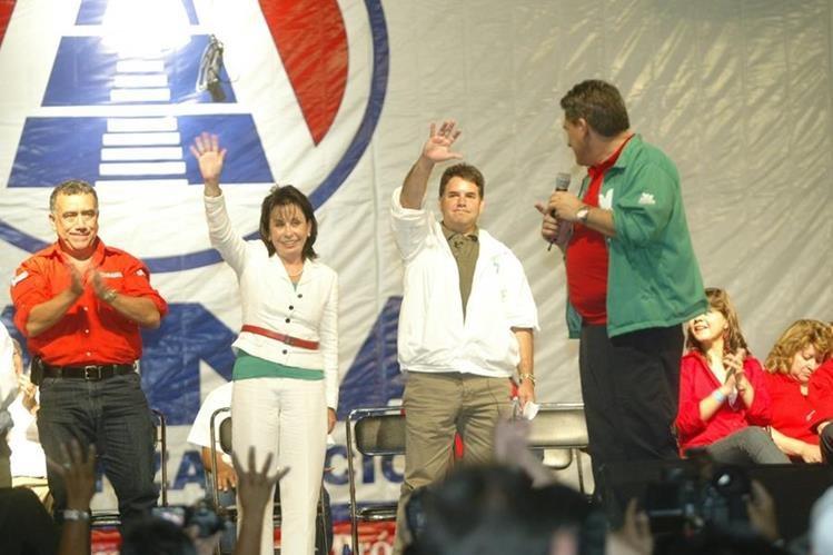 En el 2011 la Gana participó con la coalición UNE que postuló para la presidencia a Sandra Torres, pero no fue inscrita por el TSE por impedimento legal. (Foto Prensa Libre: Hemeroteca PL)
