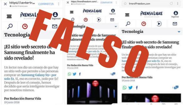 Usuarios de Prensa Libre compartieron la supuesta promoción, pero se trata de un engaño (Foto Prensa Libre: cortesía).
