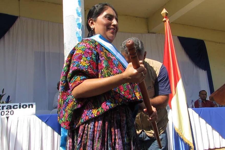 """Lilian Irlanda Pop Coya (Lanquín, Alta Verapaz) promoverá el ecoturismo y enfocará sus esfuerzos en el desarrollo, con énfasis en las comunidades que """"han sido discriminadas"""". Foto Prensa Libre: Ángel Enrique Oliva"""